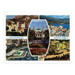 Vintage Mónaco, Monte Carlo Multiview Tarjeta Postal