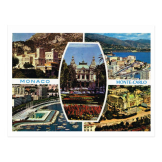 Vintage Mónaco, Monte Carlo Multiview Tarjetas Postales