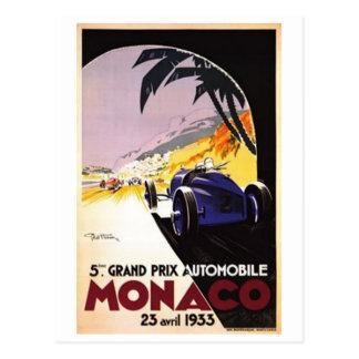 Vintage Monaco - Postcard