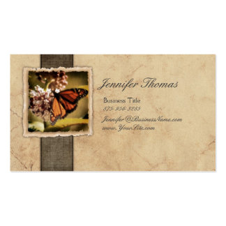 Vintage Monarch Butterfly Business Cards