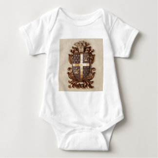 VINTAGE MONARCHY COAT OF ARMS BABY BODYSUIT