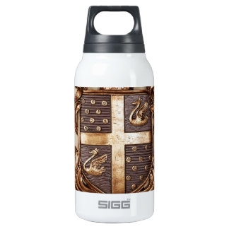 VINTAGE MONARCHY COAT OF ARMS INSULATED WATER BOTTLE