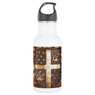 VINTAGE MONARCHY COAT OF ARMS WATER BOTTLE
