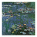 Vintage Monet Water Lilies Poster