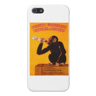 Vintage Monkey Anisetta Evangelisti Liquor Poster Case For iPhone SE/5/5s