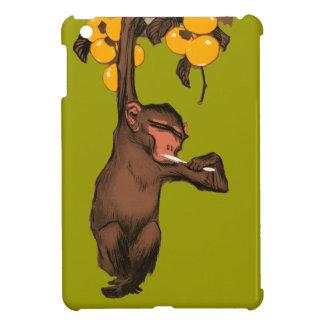 Vintage Monkey Brushing Teeth Orange Tree Animal iPad Mini Covers