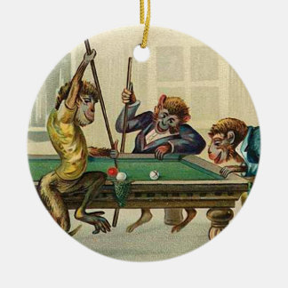 Vintage Monkey Christmas Ornament