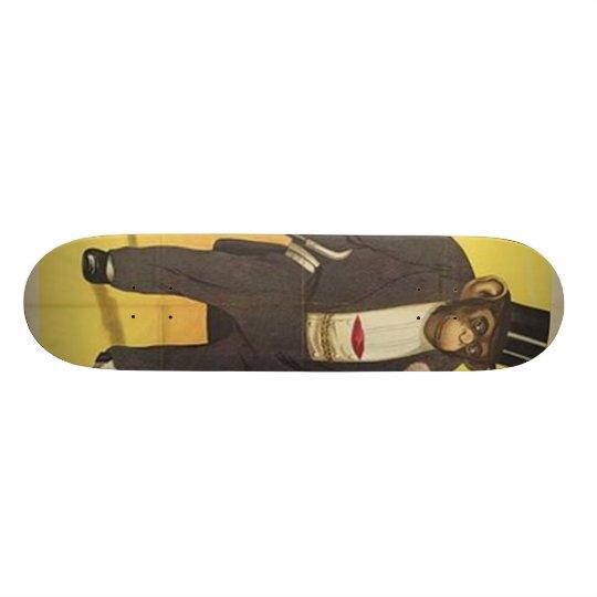 Vintage Monkey in Tuxedo Skateboard Deck