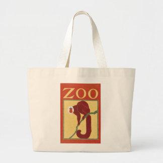 Vintage Monkey Zoo Animal Primate Gregory Brown Tote Bags