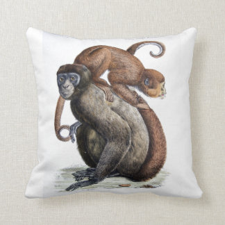 Vintage Monkeys Pillow