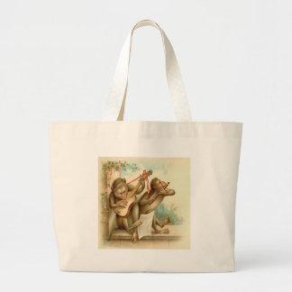 Vintage, Monkeys Playing Musical Instruments Tote Bag