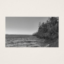 Vintage Monochrome Lake Superior Shoreline Business Card