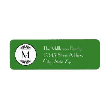 Beach Themed Vintage Monogram - Address Label