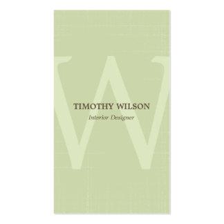 Vintage Monogram Business Cards - Green Tea Business Card