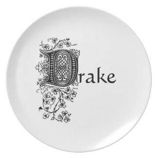 Vintage Monogram D Plate Personalized with Name