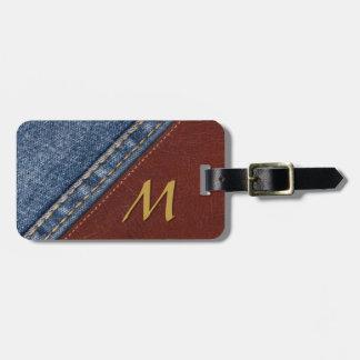 Vintage Monogram Denim and Leather Bag Tag