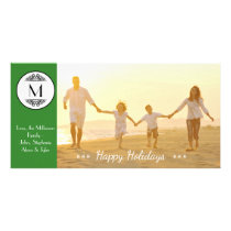 Vintage Monogram Green - Photo Card