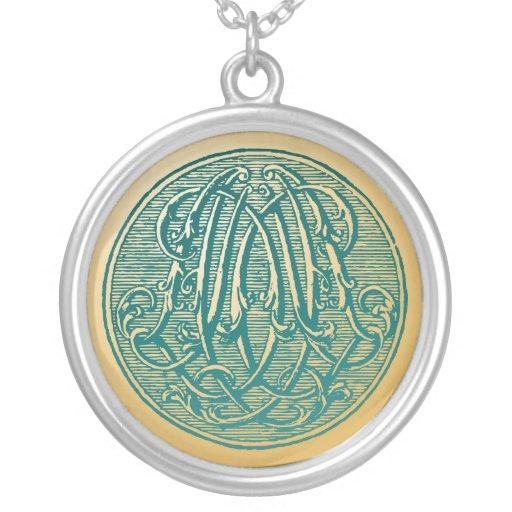 Vintage Monogram- Initials 'AD' Custom Jewelry