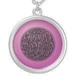 Vintage Monogram- Initials 'BB' Round Pendant Necklace