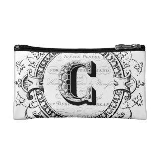 Vintage monogram letter C Makeup Bag