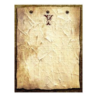 Vintage Monogram Letterhead Paper