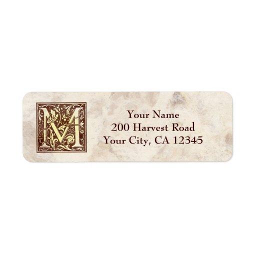 Vintage Monogram M Label