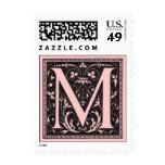 "Vintage Monogram ""M"" Postage Stamps"
