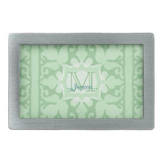 Vintage Monogram (Mint Green) Belt Buckle