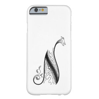 Vintage Monogram N in Black and White Barely There iPhone 6 Case