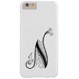 Vintage Monogram N in Black and White Barely There iPhone 6 Plus Case