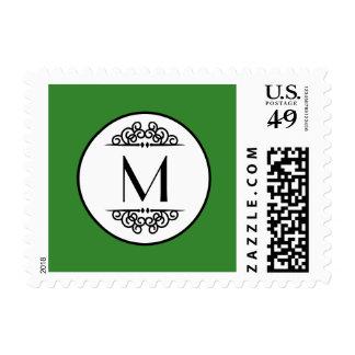 Vintage Monogram - Postage Stamp