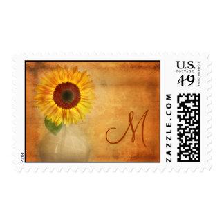Vintage Monogram Postage Stamp