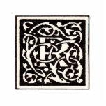 Vintage Monogram R Art Nouveau Letter Acrylic Cut Outs