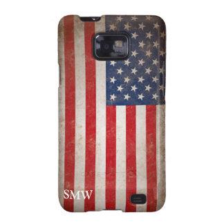 Vintage Monogram USA Flag Samsung Galaxy Case Galaxy S2 Case