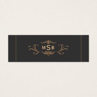 Vintage Monogrammed Elegant Mini Business Card