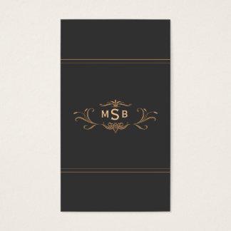 Vintage Monogrammed Elegant Scrolls Business Card