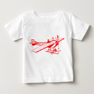 Vintage Monoplane - Red Baby T-Shirt