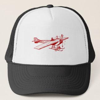Vintage Monoplane - Ruby Red Trucker Hat