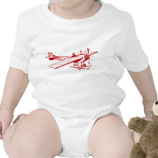 Vintage Monoplane - Ruby Red Baby Bodysuit