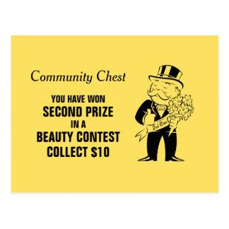 Vintage Monopoly Beauty Contest Postcard