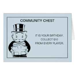 Vintage Monopoly Birthday Card