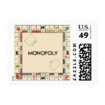 Vintage Monopoly Game Board Postage Stamps