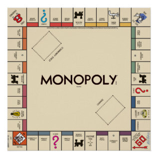 Vintage Monopoly Game Board Poster at Zazzle
