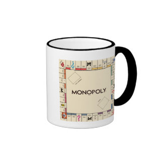 Vintage Monopoly Game Board Ringer Mug