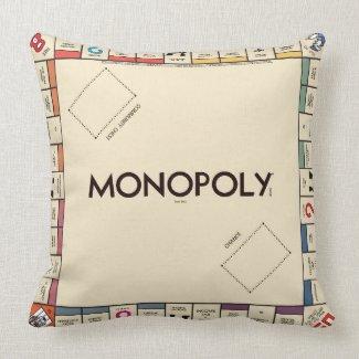 Vintage Monopoly Game Board Throw Pillow