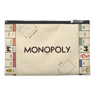 Vintage Monopoly Game Board Travel Accessory Bag