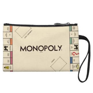 Vintage Monopoly Game Board Wristlet Wallet