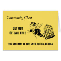Vintage Monopoly Get Out Of Jail