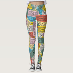 Vintage Monopoly Money Leggings