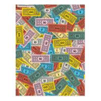 Vintage Monopoly Money Postcard